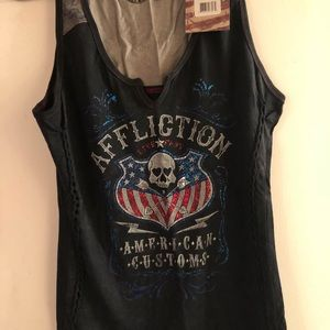 Affliction brand new with tags, American customs.